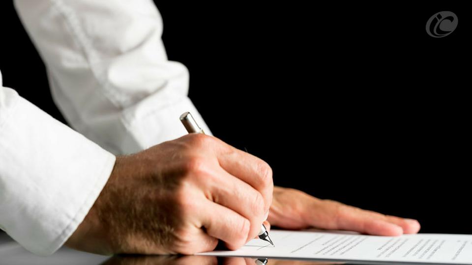 Assinatura do termo de responsabilidade