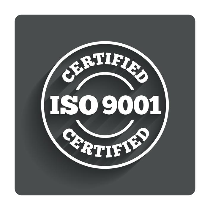 ISO-9001-ícone-do-Selo-de-certificação.-Botão-plano-cinzento-com-sombra.-vetor