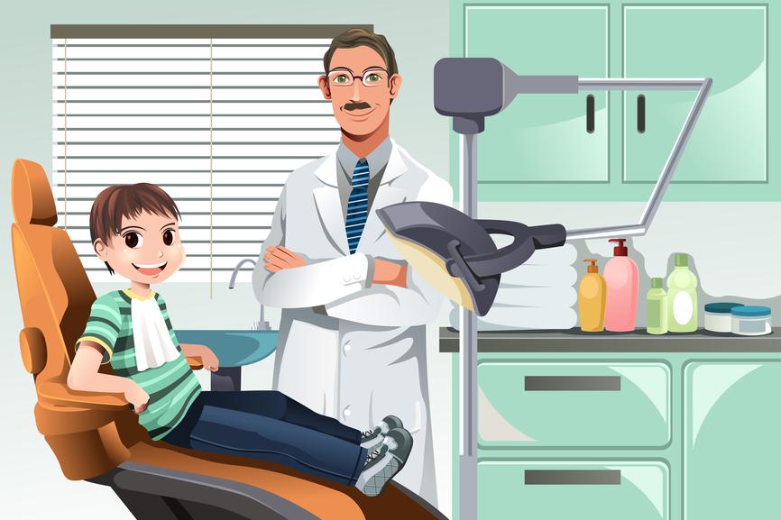ilustração-vetorial-de-uma-criança-em-um-consultório-odontológico